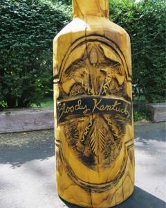 closeup of kentucky bottle