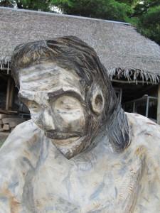 Jesus looking down